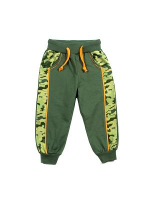 Спортивные брюки PEPELINO. Цвет: зеленый, хаки, желтый