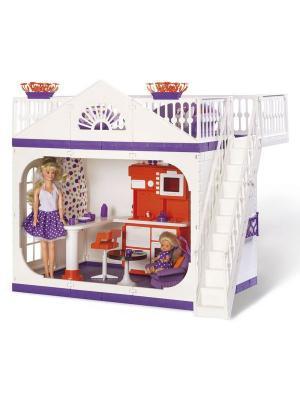 Дачный дом Конфетти Огонек. Цвет: темно-фиолетовый, белый