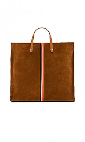 Простая сумка-тоут supreme Clare V.. Цвет: коньяк