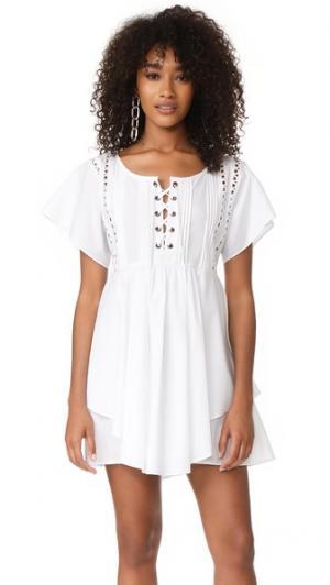 Платье Shona на шнуровке Marissa Webb. Цвет: белый