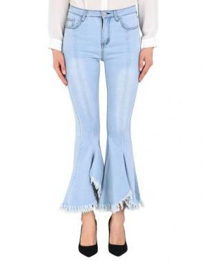 Джинсовые брюки JOVONNA. Цвет: синий