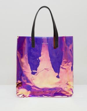Skinnydip Структурированная сумка с голографическим эффектом. Цвет: мульти