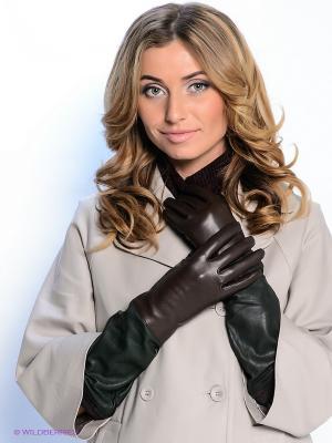 Перчатки Eleganzza. Цвет: темно-коричневый, темно-зеленый