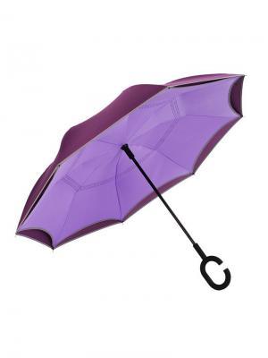 Зонт Наоборот полуавтомат MGitik. Цвет: сливовый, сиреневый