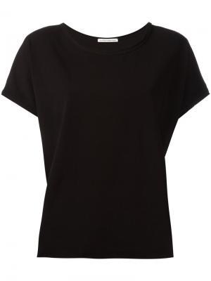 Short-sleeve raw hemmed T-shirt Stefano Mortari. Цвет: чёрный