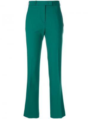 Укороченные брюки со складками Etro. Цвет: зелёный