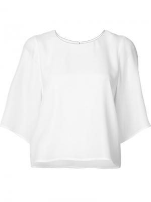 Свободная блузка Halston Heritage. Цвет: белый