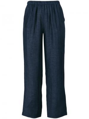 Укороченные брюки Masscob. Цвет: синий