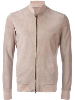 Куртка на молнии Salvatore Santoro. Цвет: телесный