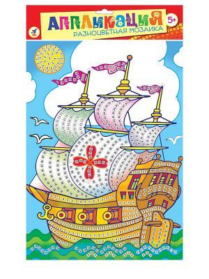 Разноцветная мозаика Кораблик Дрофа-Медиа. Цвет: голубой
