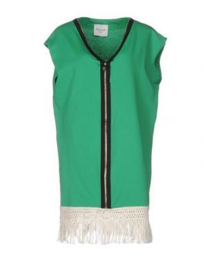 Короткое платье MARIUCCIA. Цвет: зеленый