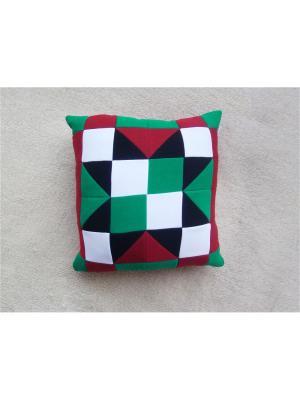 Подушка футер Агат. Цвет: черный, белый, зеленый