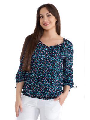 Блузка женская OLBE. Цвет: темно-синий, зеленый, красный, розовый, синий, темно-зеленый