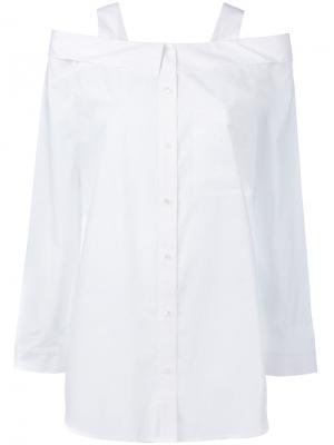 Рубашка с открытыми плечами Robert Rodriguez. Цвет: белый
