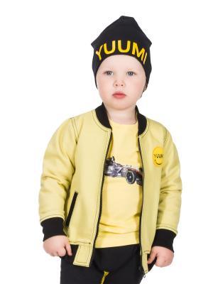 Бомбер джинсовый детский Yuumi. Цвет: желтый