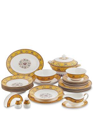 Столовый сервиз на 6 перс. Арабески (Arabesca Yellow Pavone) Pavone. Цвет: белый