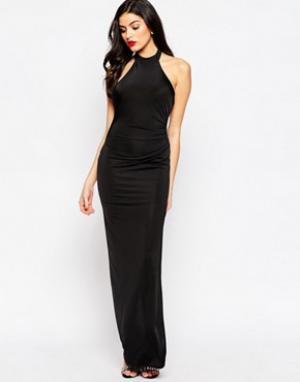 Sistaglam Платье макси с боковым разрезом Hayden. Цвет: черный