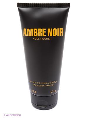 Парфюмированный Гель для Душа Ambre Noir Yves Rocher. Цвет: темно-коричневый