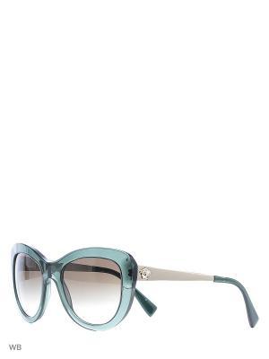 Очки солнцезащитные Versace. Цвет: зеленый, бежевый