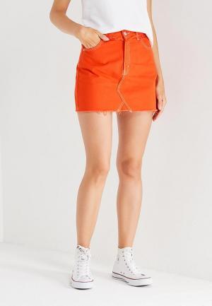 Юбка Topshop. Цвет: оранжевый