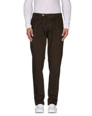 Повседневные брюки BERWICH. Цвет: темно-коричневый