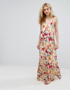 Soaked in Luxury Платье макси н бретельках с цветочным принтом. Цвет: мульти