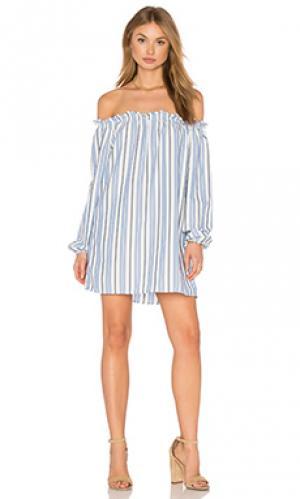 Платье ella De Lacy. Цвет: синий