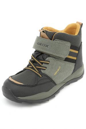 Ботинки Geox. Цвет: хаки, желтый