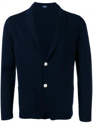 Блейзер с накладными карманами Drumohr. Цвет: синий