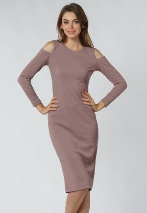 Платье Evercode. Цвет: бежевый