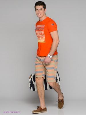 Бермуды Cars Jeans. Цвет: светло-оранжевый, синий