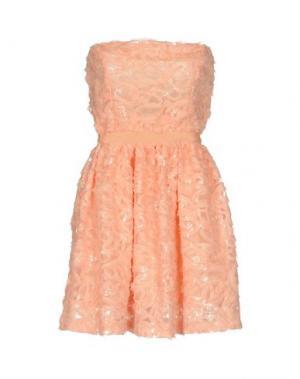 Короткое платье NORA BARTH. Цвет: лососево-розовый