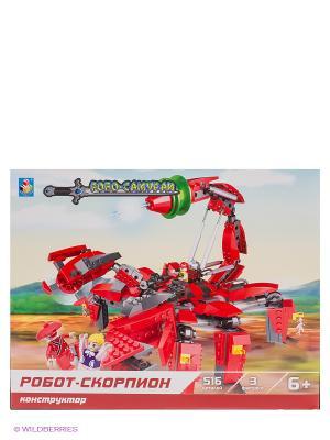 Конструктор Робосамураи - Робот-скорпион (516 деталей) 1Toy. Цвет: красный, серый
