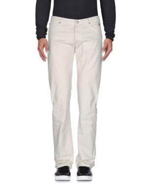 Джинсовые брюки ROŸ ROGER'S. Цвет: слоновая кость