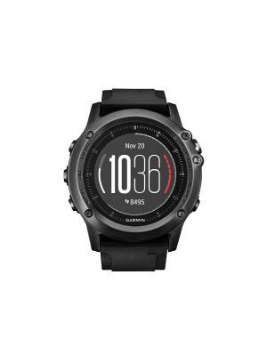 Умные часы Fenix 3 Sapphire HR HRM с черным ремешком со встроенным и нагрудным пульсометром GARMIN. Цвет: черный
