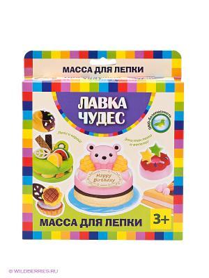 Набор массы для лепки Праздничный торт Лавка Чудес. Цвет: желтый, красный