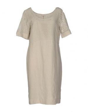 Платье до колена CLUB VOLTAIRE. Цвет: бежевый