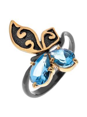 Кольцо Балтийское золото. Цвет: черный,синий,лазурный,голубой,серебристый,золотистый