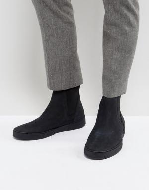 Zign Замшевые кроссовки-ботинки челси. Цвет: черный