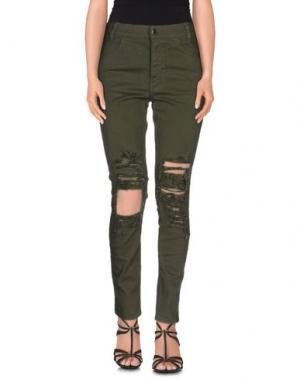 Джинсовые брюки ARIES. Цвет: зеленый-милитари