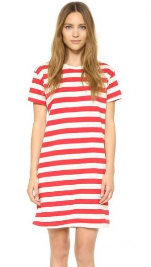 Мини-платье Boyfriend Edith A. Miller. Цвет: красный/широкая полоска телесного цвета
