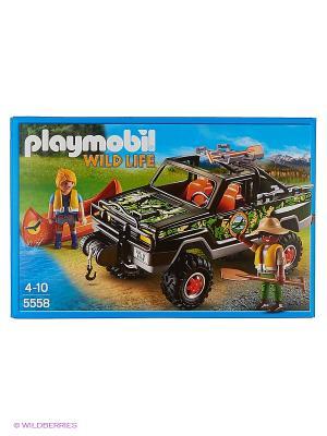 В Поисках Приключений: Пикап с лодкой Playmobil. Цвет: черный