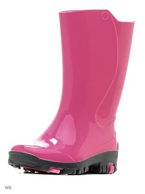 Резиновые сапоги Nordman. Цвет: розовый