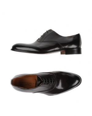 Обувь на шнурках ALESSANDRO DELL'ACQUA. Цвет: темно-коричневый