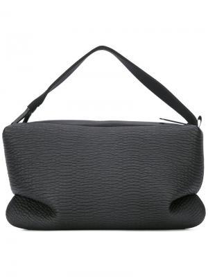 Текстурированная сумка на плечо Côte&Ciel. Цвет: чёрный