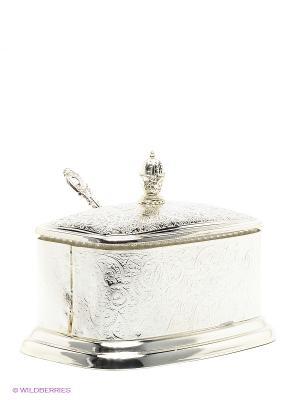 Сахарница с ложечкой Marquis. Цвет: серебристый