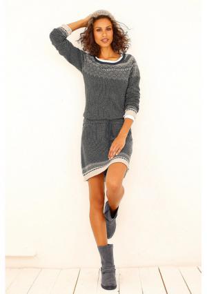 Платье BOYSENS BOYSEN'S. Цвет: темно-серый/бежевый