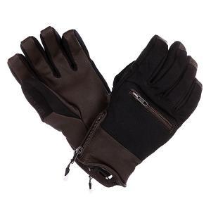 Перчатки сноубордические  Let It Storm Glove Black Volcom. Цвет: черный,коричневый