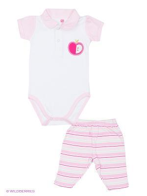 Комплект Яблоко Hudson Baby. Цвет: розовый, белый