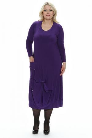 Платье Фаина Зар-Стиль. Цвет: фиолетовый